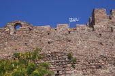 Castle battlement in Greece — Stock Photo