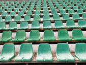 Chairs in stadium — Stock Photo