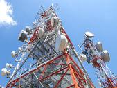 Telecomunication antenas — Stock Photo