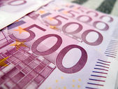 500 five houndred euro notes — Stock Photo