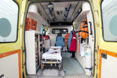Inside of an ambulance — Stock Photo