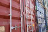 Stapel von Containern — Stockfoto