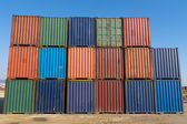 Stack of containers for leasing — Stock Photo