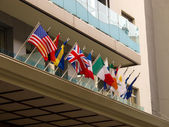 Flags of Nations — Stock Photo