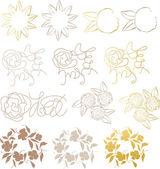 Design elements flower — Stock Vector