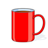Red big cup — Stock Vector