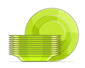 Set of green plates — Stock Vector