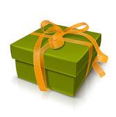 Geschenkdoos met strik — Stockvector