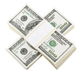 Packed dollar money — Stock Photo
