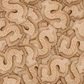 Cardboard dollar sign seamless texture — Stock Photo