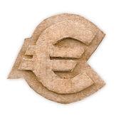 Cardboard euro sign — Stock Photo