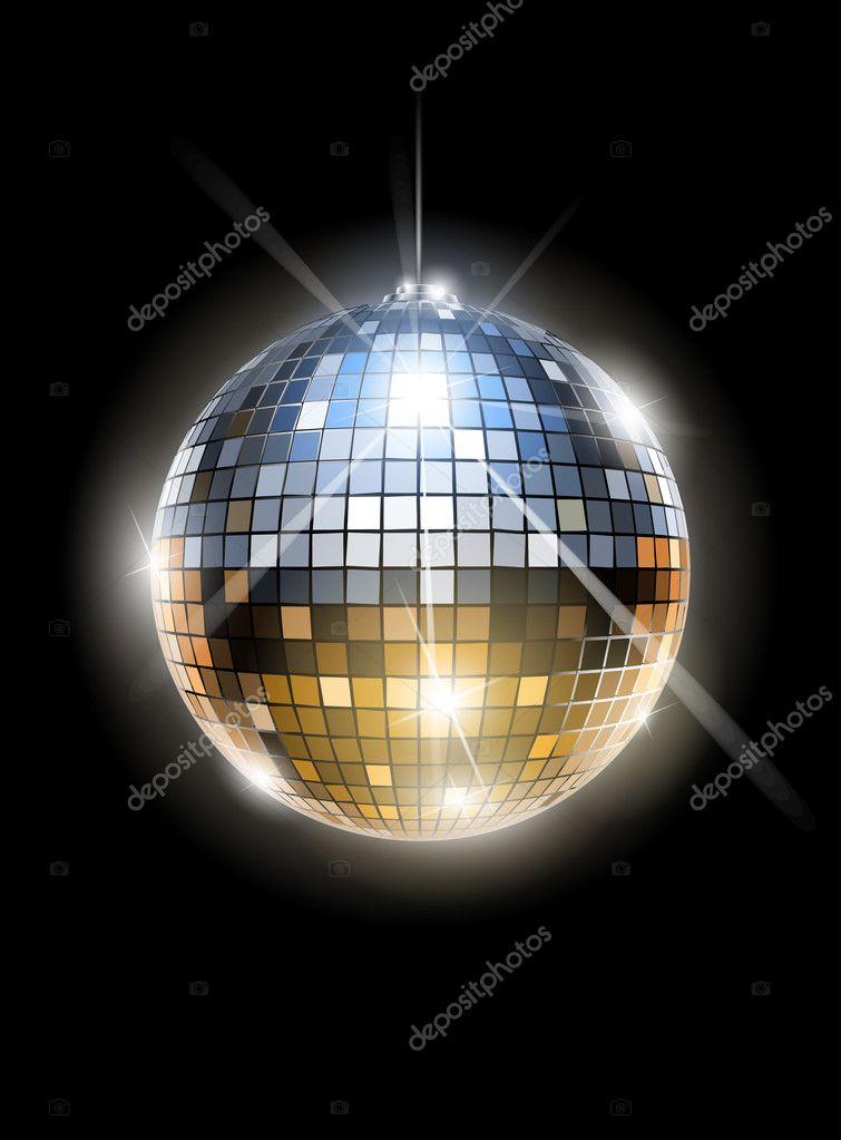 Bola de discoteca de espejo vector de stock sweetok - Bola de discoteca de colores ...