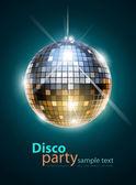 Boule disco à facettes — Vecteur