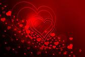 Romantyczna pocztówka walentynkowa — Stock Photo