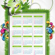 Vector calendar design 2012 with nature design — Stock Vector