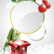 Royalty-Free Stock Vector Image: Vector illustration on a Christmas theme with gift box