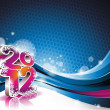 Happy New Year 2012 design — Image vectorielle