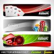 Vector banner set on a Casino theme. — Stock Vector