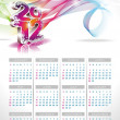 Vector calendar design 2012 on clear background. — Stock Vector