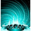 Vector illustration for a musical theme - Stock Vector