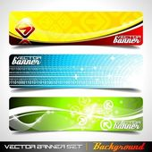 Drei abstrakten vektor banner background — Stockvektor