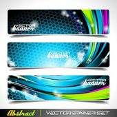 Three abstract vector banner background — Stockvektor