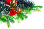Garland with red bow — Stock Photo
