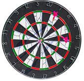Dartboard with 3 dart in it — Stock Photo