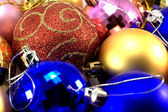 Christmas baubles different colours — Stock Photo