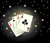 Casino cards — Stock Vector