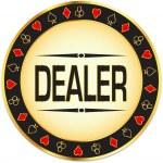 Casino. Dealer chips. — Stock Vector #7897114