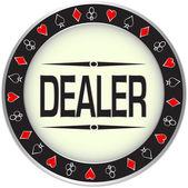 Casino. Dealer chips. — Stock Vector