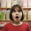 Stock Photo: Child in sweet shop