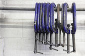 Row of clamps — Stock Photo