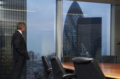 Boardroom and man — Stock Photo