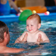 Child Learning to Swim — Stock Photo #7797805