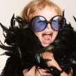 Funny little fashionista - Stock Photo