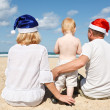 Royalty-Free Stock Photo: Happy family resting on the sea
