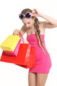 Young fashionista to shop — Stock Photo