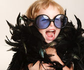 Funny little fashionista — Stock Photo