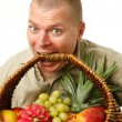 Mwith basket in mouth — Stock Photo #7844763