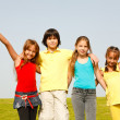 Stock Photo: Cheerful group of children