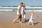 Family in the Mediterranean — Stock Photo