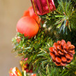 Decoration on Christmas tree - Stock Photo