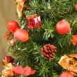 Royalty-Free Stock Photo: Red balls on christmas tree