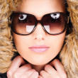 Woman in winter outfit — Stockfoto