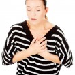 Womhaving chest pain — Stock Photo #7932615