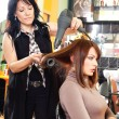 Hairdresser and the girl — Stock Photo #7951181