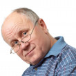 Bald senior man with glasses — Stock Photo #7795514
