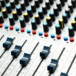 Sound mixer. selective focus — Stock Photo